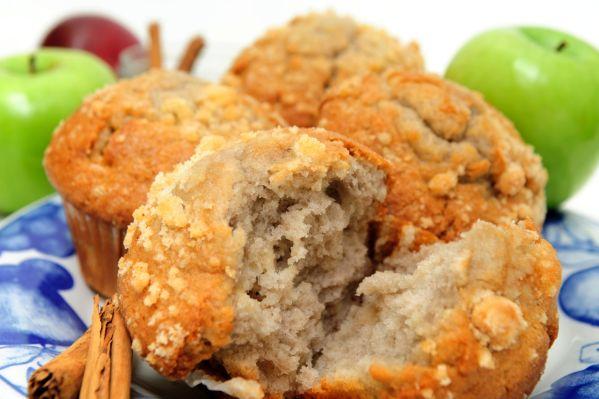Jablkové muffiny s posýpkou |