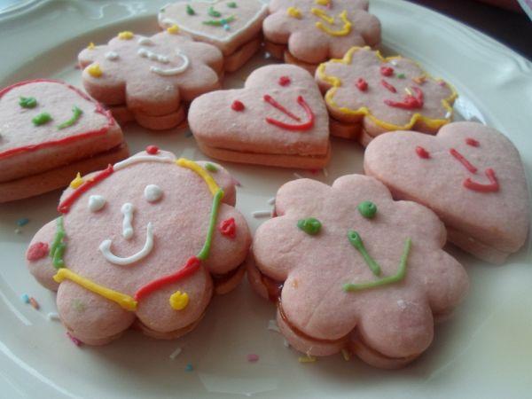 Ružové linecké koláčiky |