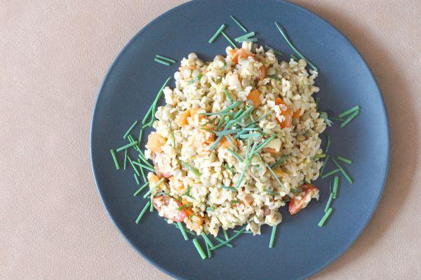 Šošovicový šalát s natural ryžou |