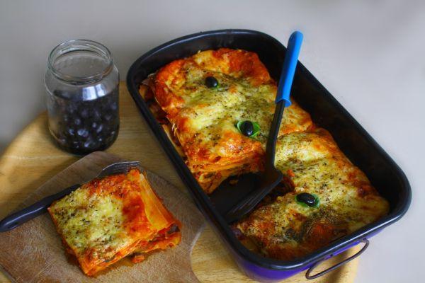 Lasagne so šunkou a šampiňónmi |