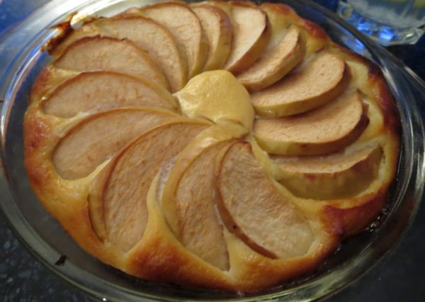 Bezlepkový jablkovo-tofu koláč s fazuľovým základom ...