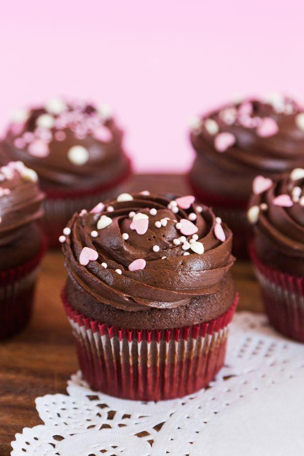 Čokoládové cupcakes s čokoládovým krémom |