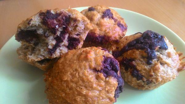 Cuketovo-čokoládové muffiny z ovsených vločiek |