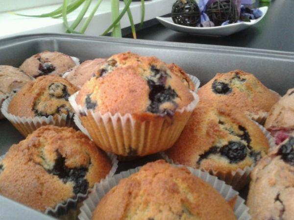 Chrumkavé čučoriedkové muffinky |