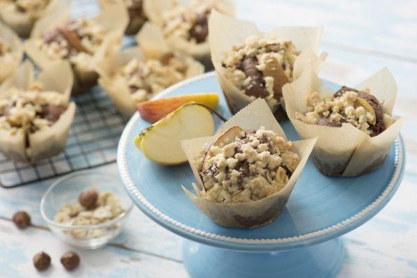 Muffiny s jablkami a lieskovými orieškami |