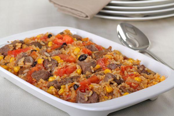 Jahňacie mäso s fazuľkou a ryžou |