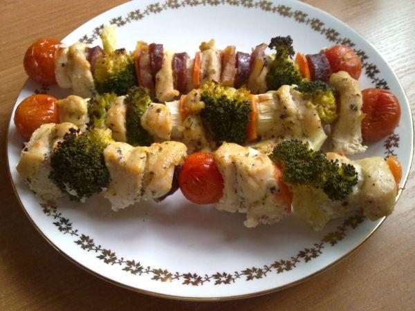 Kuracie špízy s brokolicou |