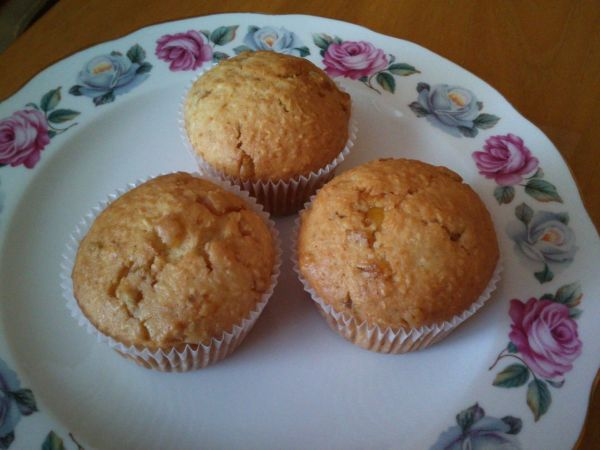 Kokosové muffiny s džemom |