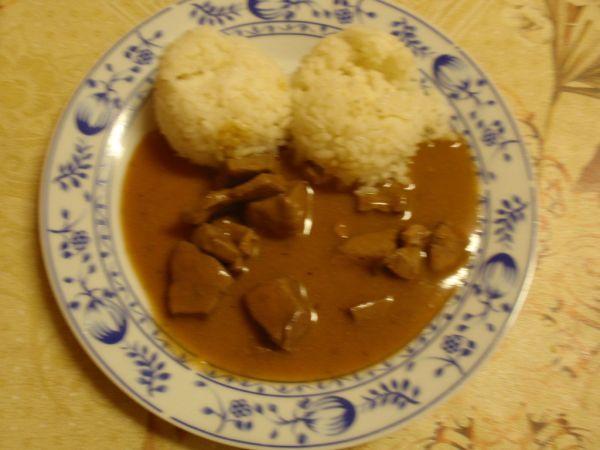 Hovädzia pečeň s ryžou |