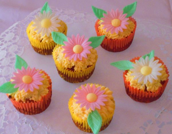 Rozkvitnuté vločkové muffiny |