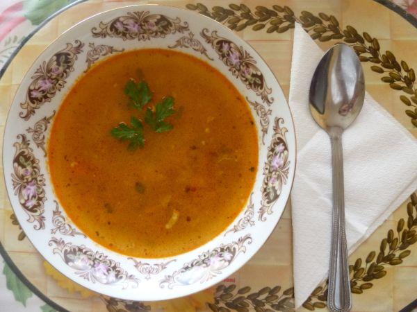Zeleninová polievka s mletým mäsom |