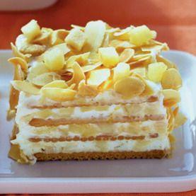 Šťavnatý jablkový koláč z keksov |