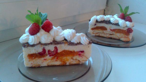 Ovocná tvarohová torta |