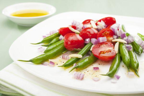 Zelená fazuľka s rajčiakmi |
