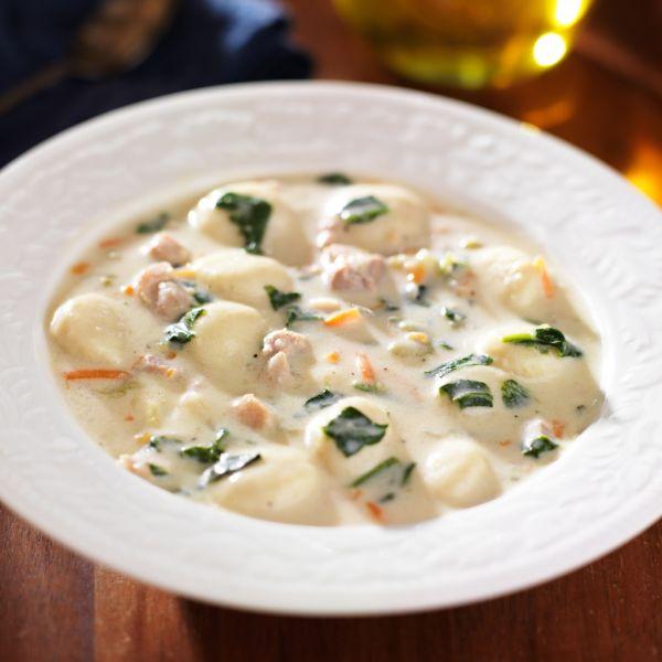 Syrová polievka so zemiakovými nokmi |