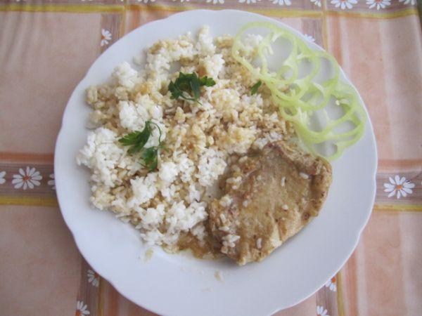 Bravčová roštenka s ryžou |