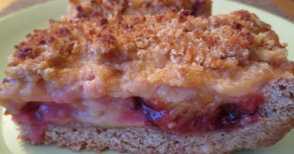 Krehký slivkový koláč so sójovým pudingom, fotogaléria ...
