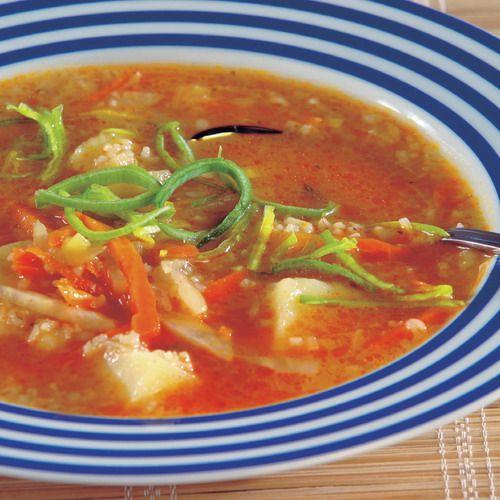 Krúpová polievka s pórom |