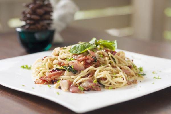 Špagety carbonara s čili |