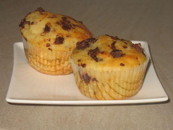Tvarohové muffiny s čokoládou |