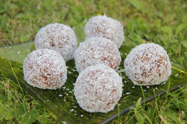 Kakaové guľky v kokose |