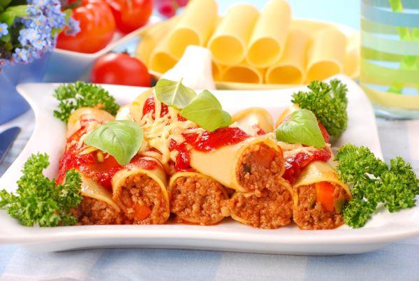 Cannelloni plnené mletým mäsom |