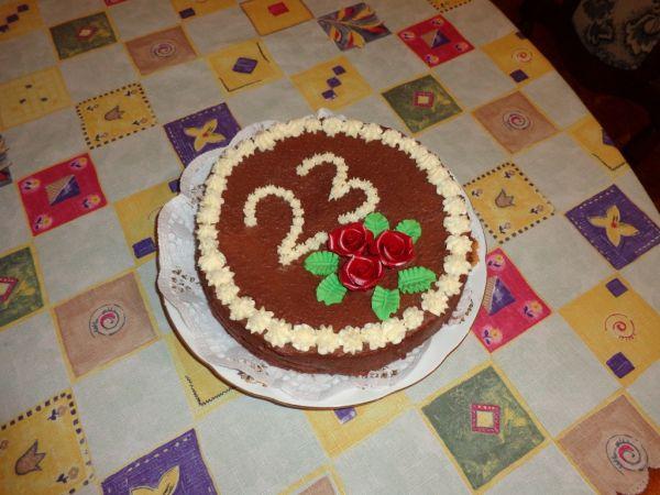 Čokoládová tortička k narodeninám |