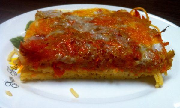 Zapekané špagety s cuketovou chilli plnkou |