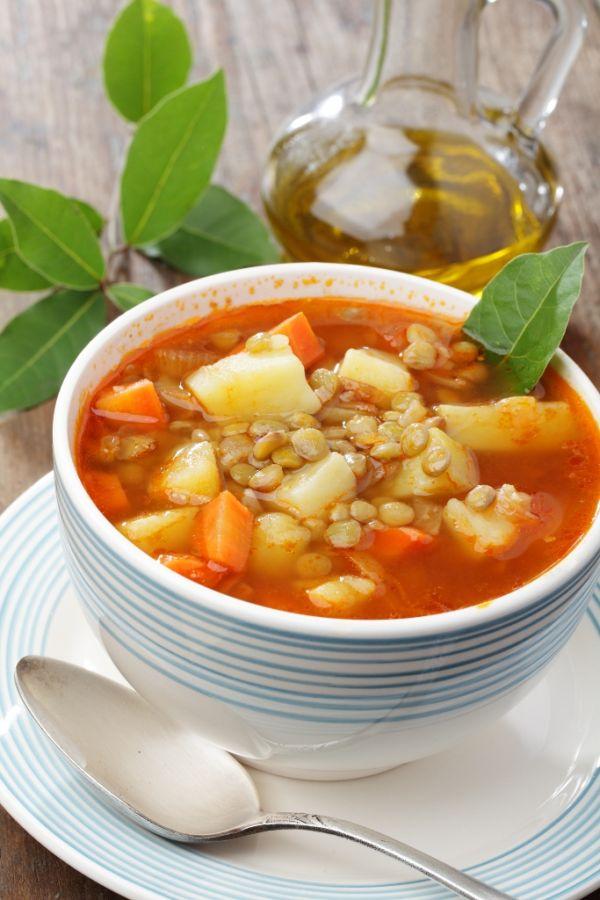 Šošovicová polievka nakyslo |