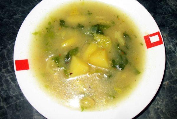 Kelovo-zemiaková polievka |