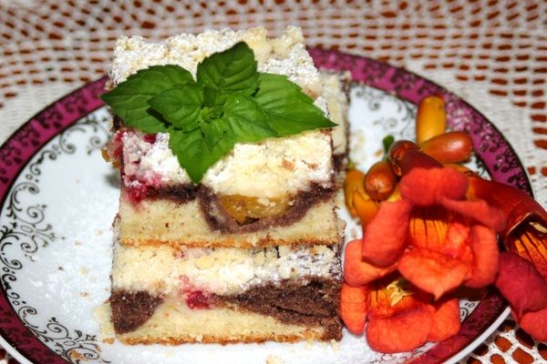 Cuketový koláč s ovocím |