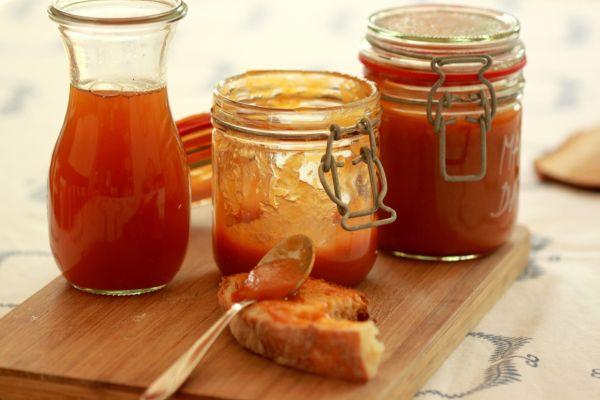 Marhuľový džem s kokosovým cukrom s vanilkou a domácim ...