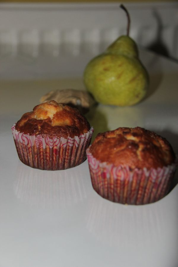 Hruškové muffiny so zázvorom |