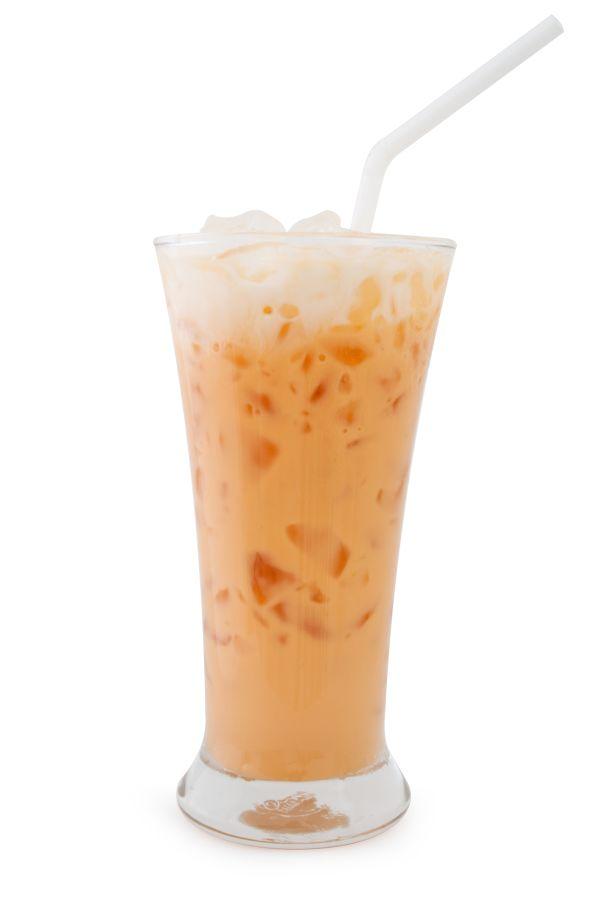Pomarančový koktail s mliekom a ľadom |