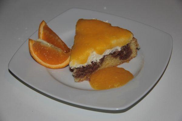 Tvarohovo  pomarančová torta |