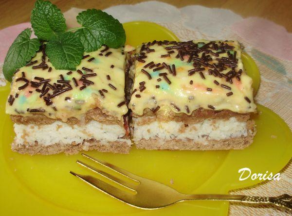 Kokosovo-pudingový koláč |