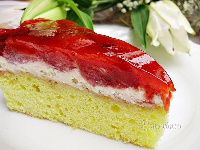 Jahodový koláčik