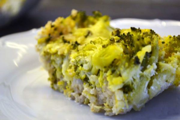 Zapekané jačmenné krúpy s brokolicou |