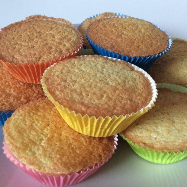 Limetkové diétne muffiny z ryžovej múky |