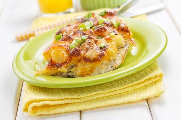Morčacie mäso zapečené s ananásom a syrom |