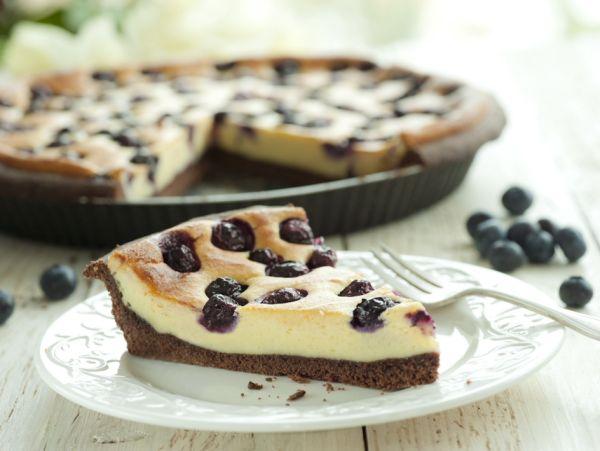 Tvarohový cheesecake s čučoriedkami |