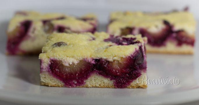 Slivkový koláč s tvarohom