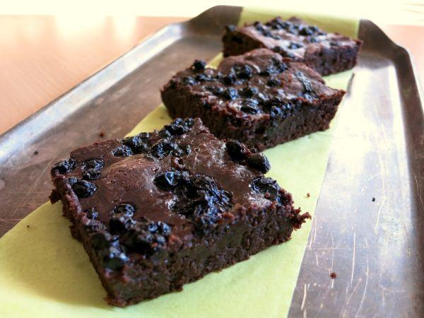 Čučoriedkové brownies |