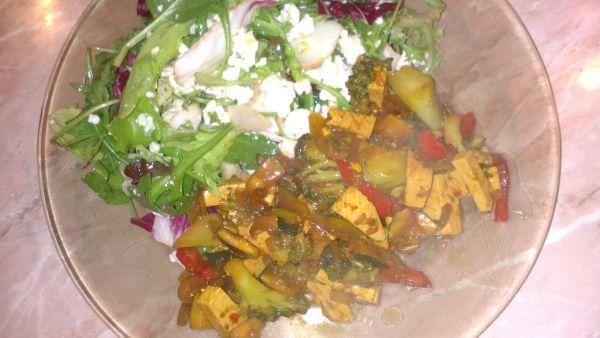 Zeleninová panvička s tofu |