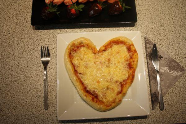 Valentínska pizza  