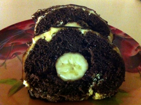 Čokoladovo-banánová roláda |