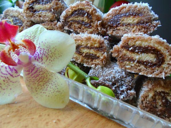 Kokosom obaľované roládky |