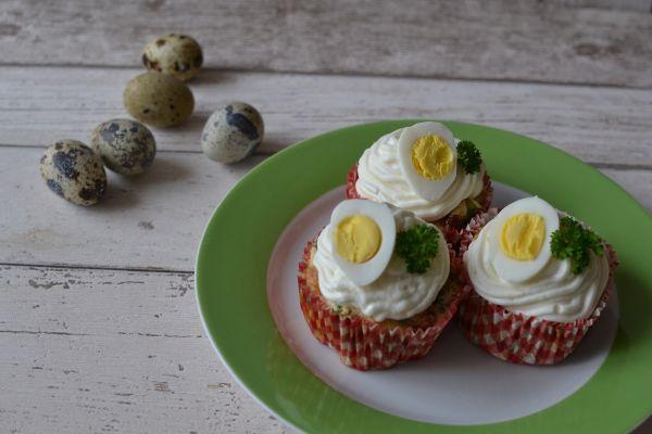 Slané veľkonočné cupcakes |