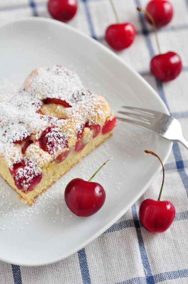 Tvarohový koláč s čerešňami |