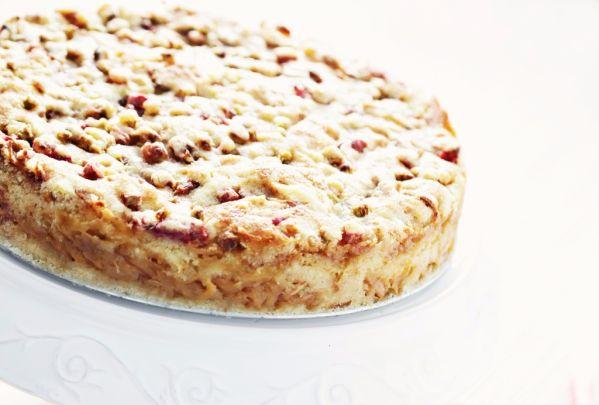 Jablkovo-rebarborový koláč  